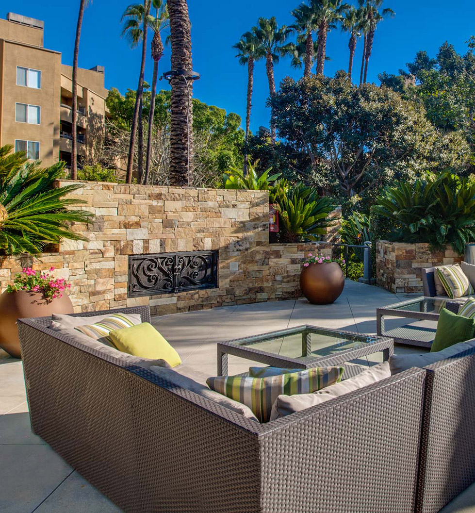 3400 Avenue of the Arts - Costa Mesa, CA - Outdoor Fireplace Patio